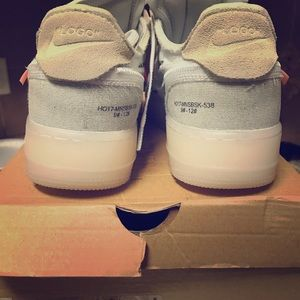 """(USED) Air Force one """"OFF-White"""" sz 10.5"""